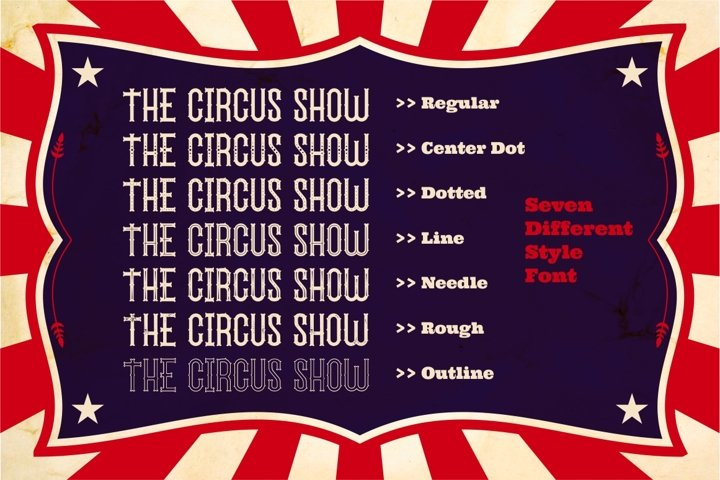 The Circus Show - Free Font Of The Week Design2