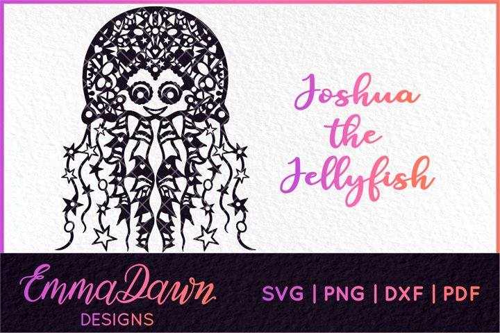 JOSHUA THE JELLYFISH SVG MANDALA / ZENTANGLE DESIGN
