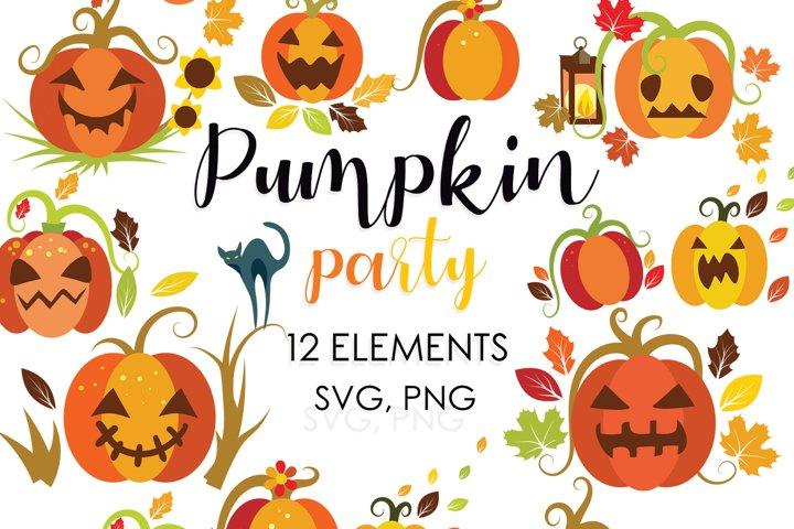 Halloween Bundle, Fall Clipart, Autumn Svg Bundle, Fall Svg