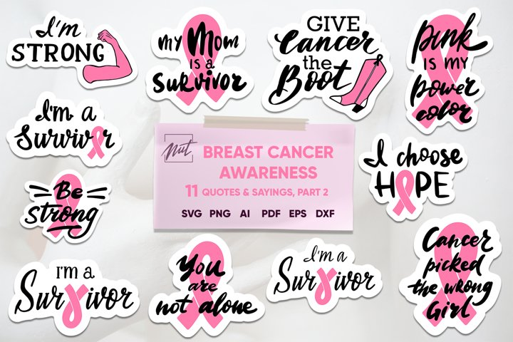 Breast cancer awareness, breast cancer bundle, quotes