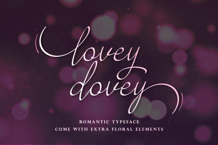 Lovey Dovey - script handwritten font