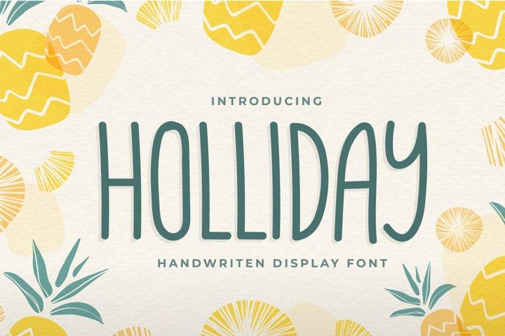 Holliday - Handwritten Display Font