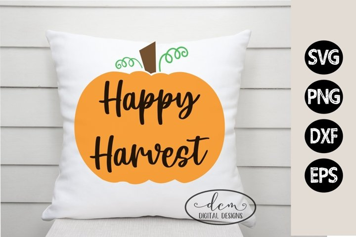 Happy Harvest Pumpkin Fall SVG PNG DXF EPS