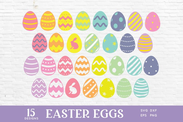 Colorful Easter Eggs svg png eps dxf
