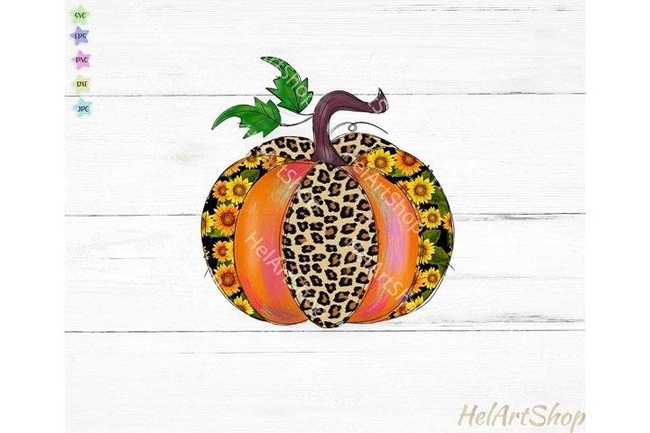 Pumpkin Sublimation PNG, Fall sublimation, Sunflower