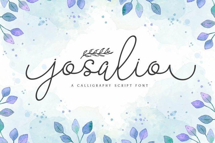 Web Font Josalio
