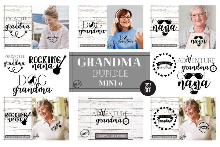 Grandma T shirt Design Bundle|Nana SVG Bundle|Mini - 6