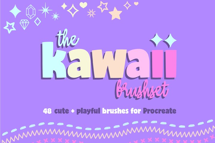 KAWAII BRUSHSET - 48 cute brushes for Procreate 5/5x