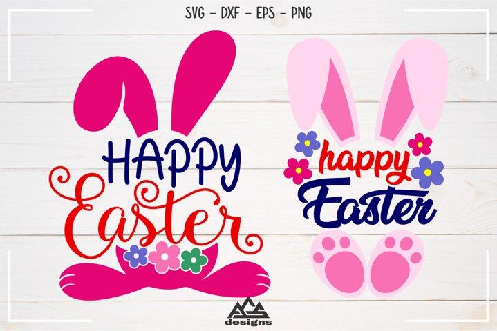 Happy Easter Rabbit Bunny Svg Design