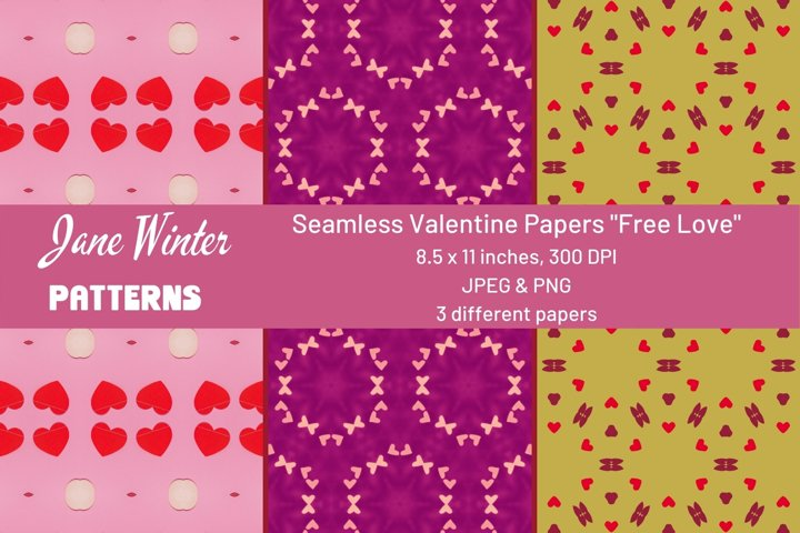 Seamless Valentine Papers Free Love