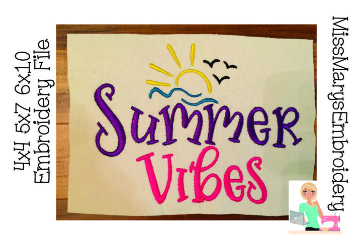 Summer Vibes Embroidery | Summer Embroidery | Embroidery