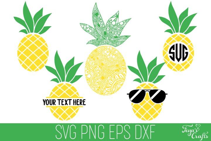 Pineapple SVG Pack | Pineapple Mandala SVG | Pineapple Split