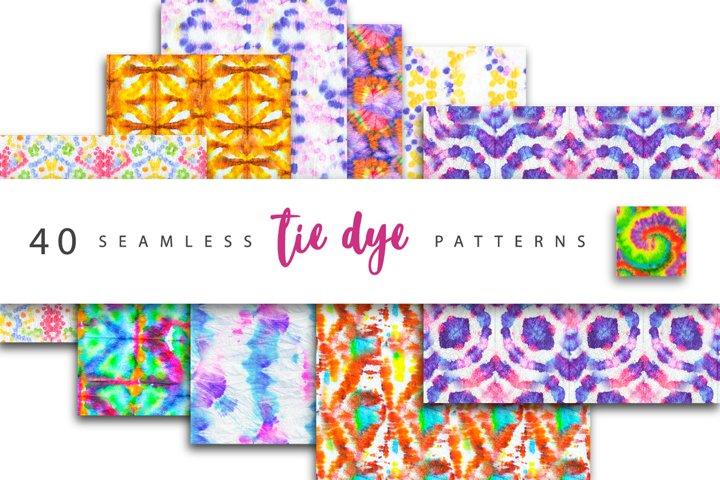 Bundle. Seamless tie-dye patterns.