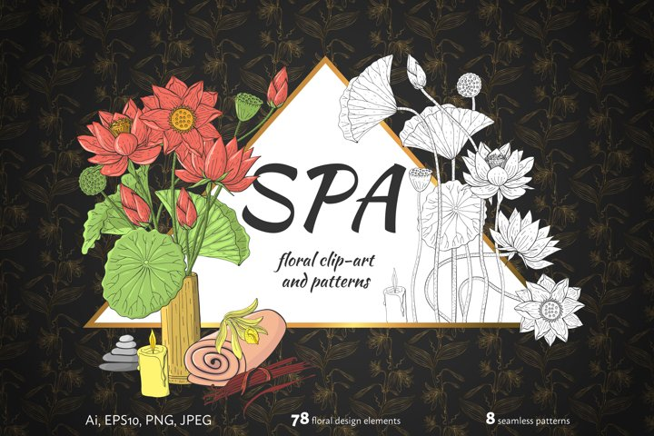 Floral clip-art and patterns SPA