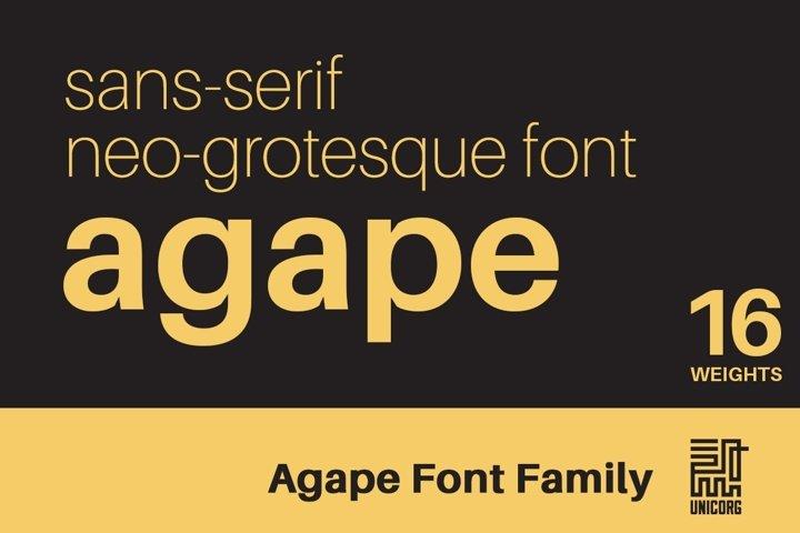 Agape Font Family