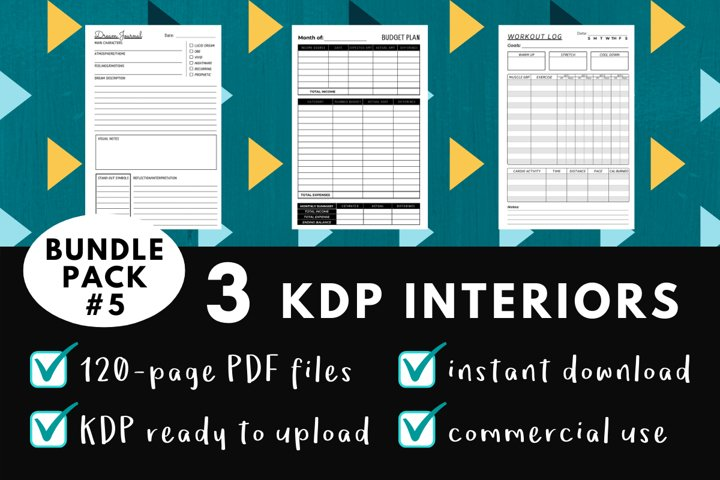 KDP Interior Pack #5 - 3 Templates!