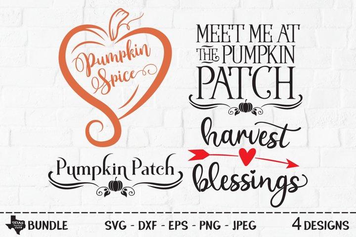 Pumpkin Harvest Bundle SVG, Cut File, Fall Shirt Designs