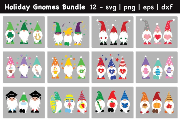 Ultimate Gnomes Bundle Svg, Holiday Gnomes Bundle Svg
