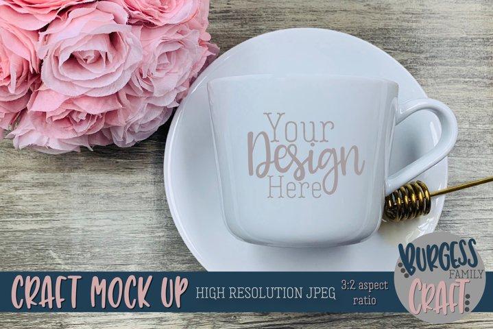Pretty mug Craft mock up |High Resolution JPEG example