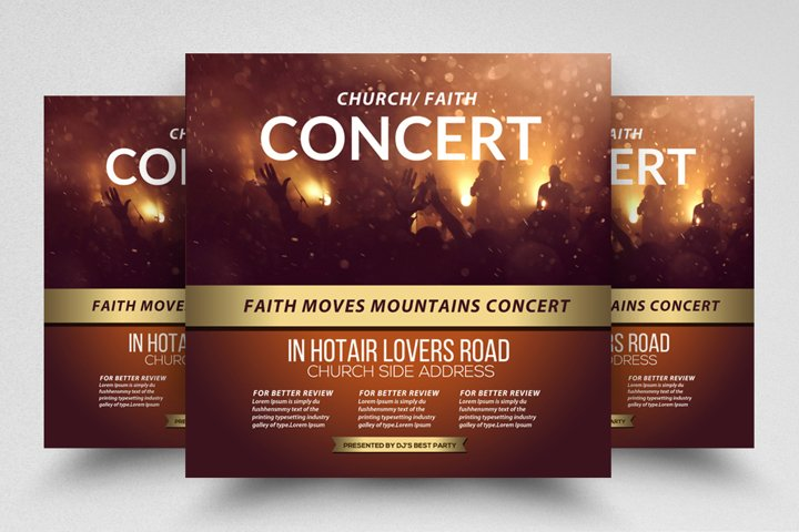 Church Concert Event Square Flyer/Poster