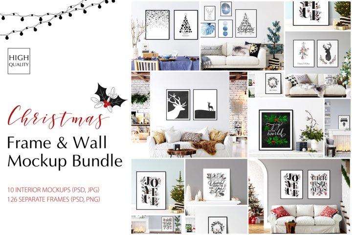 Christmas Frame & Wall Mockup Bundle