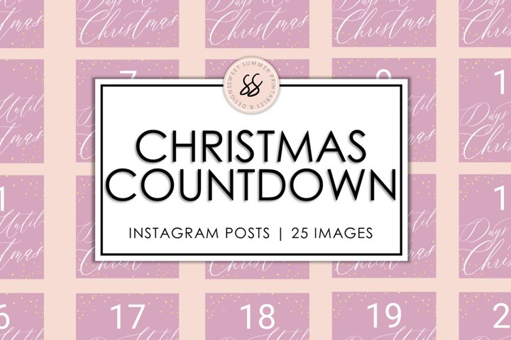Christmas Countdown Dusty Rose & Gold Instagram Posts