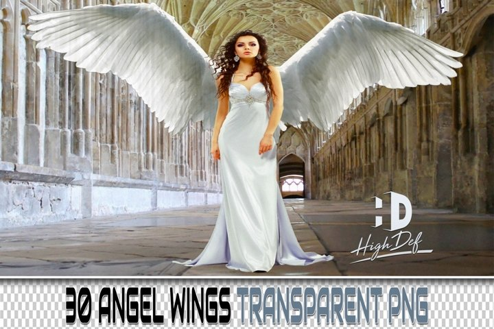 30 ANGEL WINGS PNG PHOTOSHOP OVERLAYS, BACKGROUNDS BACKDROPS