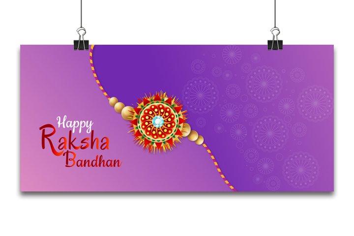 Indian Religious Festival Raksha Bandhan Background Vector