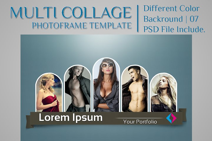 Multi Collage Photoframe Template