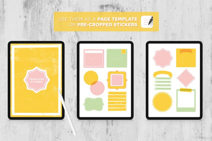 Digital Notebook Templates and Stickers