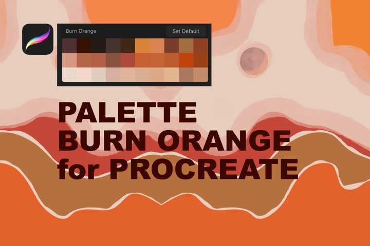 Palette Burn Orange for Procreate
