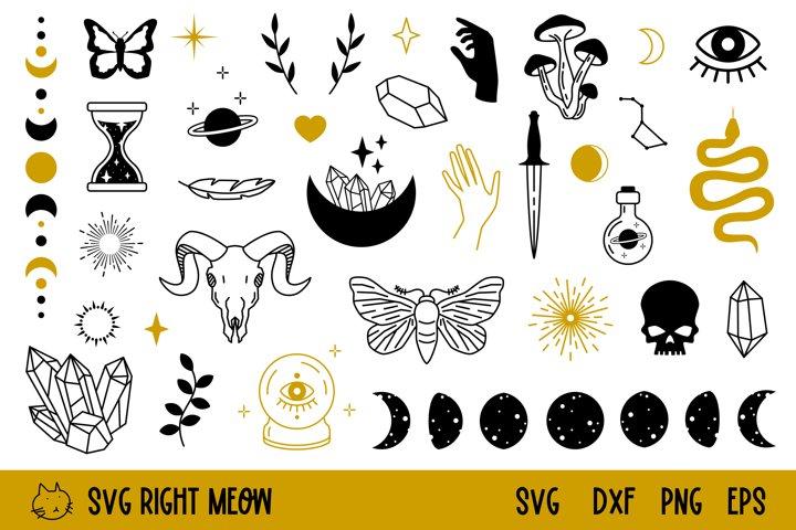 Witchcraft SVG Magic SVG Bundle Boho Design