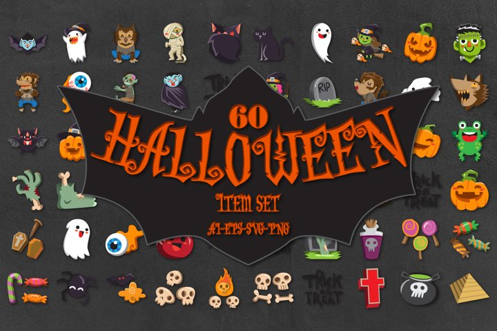 HALLOWEEN SET 60 ITEM GRAPHIC vol.1