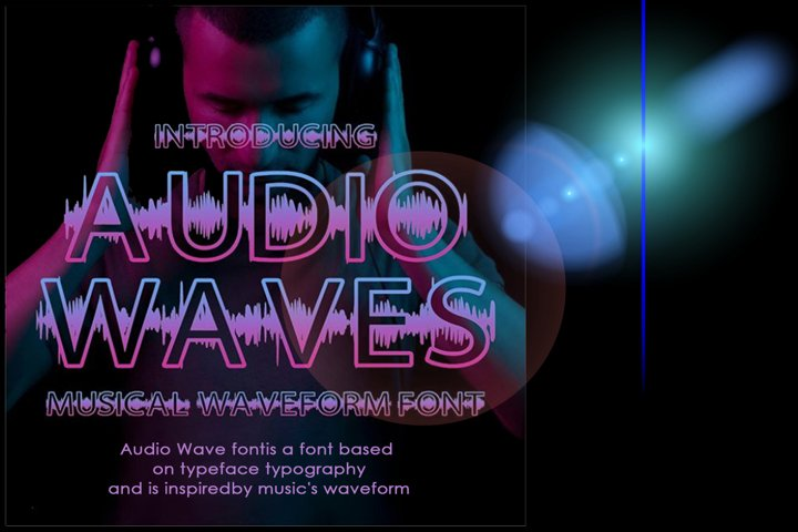 Audio Wave Font | Open Type / Woff