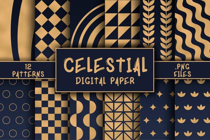 Celestial Pattern Digital Paper