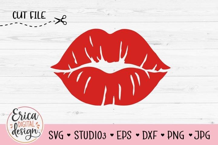 Kiss SVG Lips print Lipstick mark Femal Red Lips Face Mask