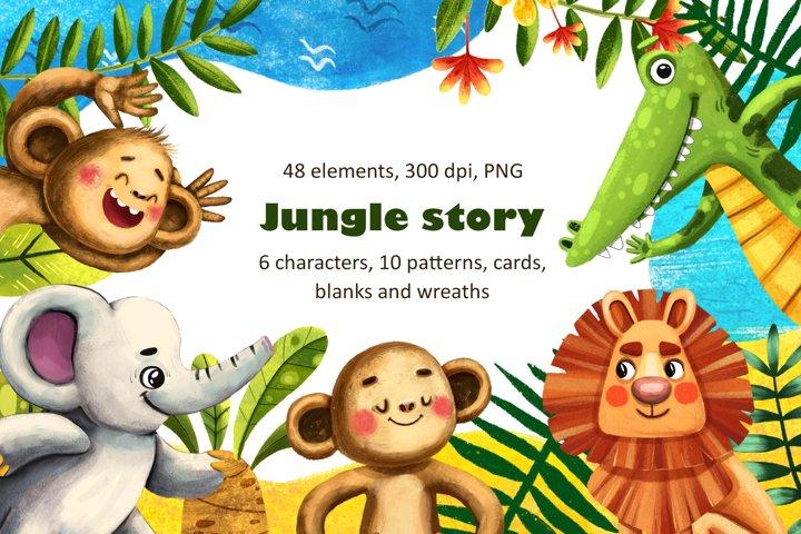 Jungle Story - Clip Art Set