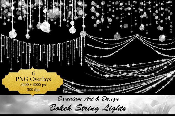 Bokeh String Lights Overlays