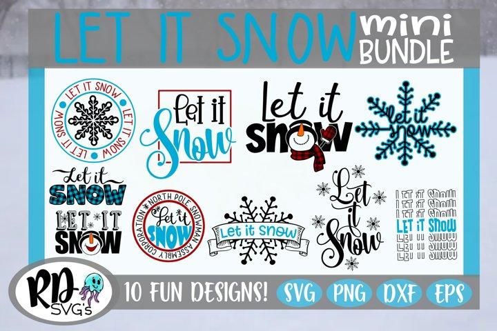 Let it Snow - A Christmas Cricut Cut File Bundle