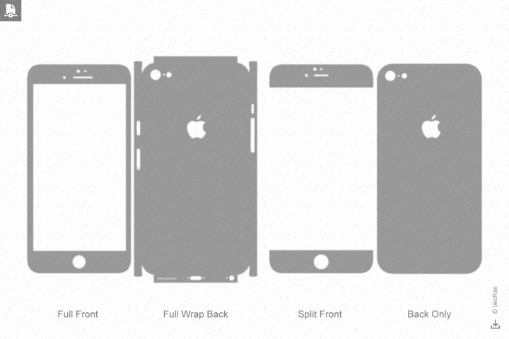 Apple iPhone 6S Decal Cut file Vector Template 2015