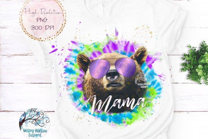 Mama Bear Tie Dye | Mama Bear Sublimation PNG