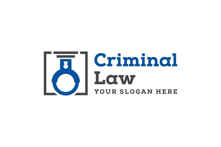 criminal law logo template