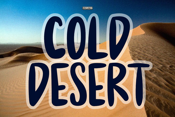 Cold Desert - A Fun Handwritten Font