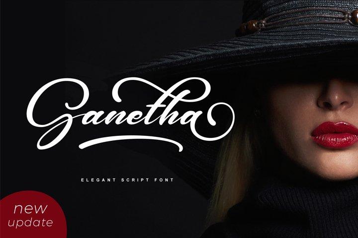 Ganetha - Elegant Script Font
