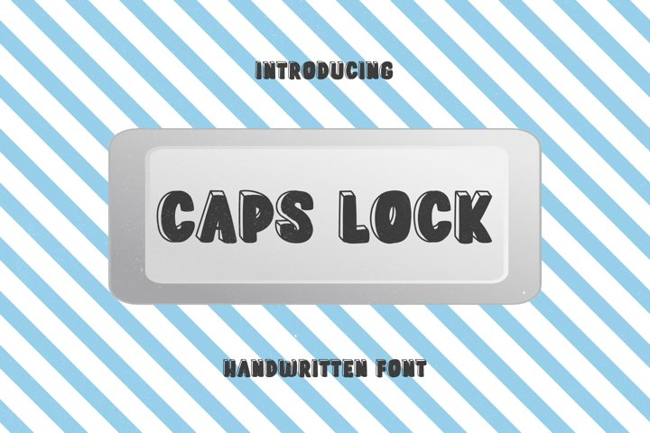 Caps Lock Button - A Cute 3D Handwritten Font