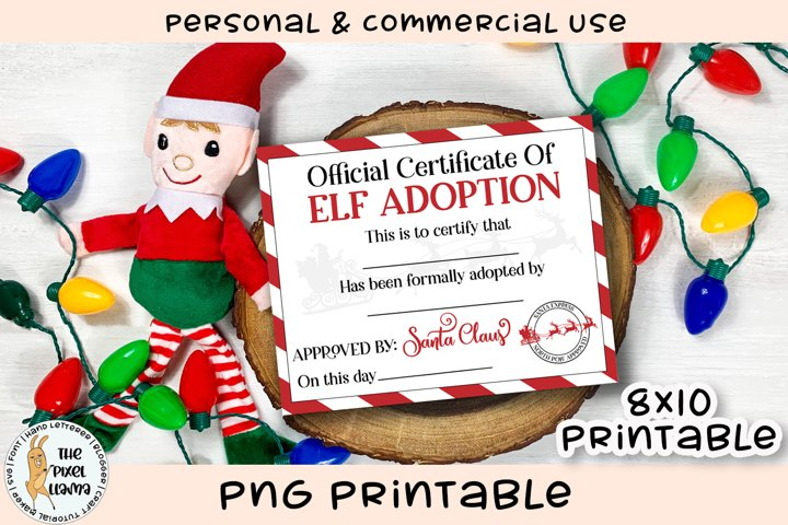 Elf Adoption Certificate Printable