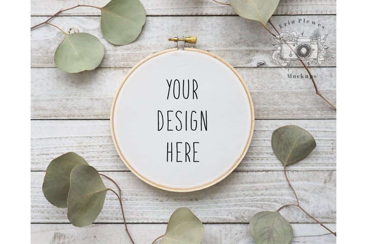 Embroidery Hoop Mockup  Cross Stitch Mock-up  Sewing Mock Up