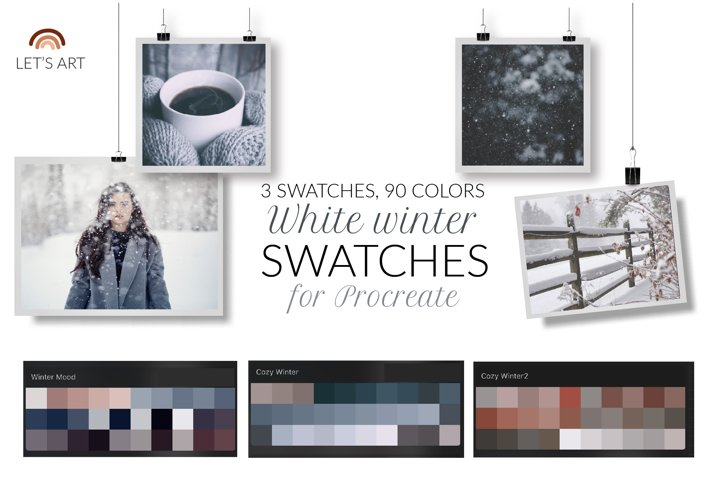 Winter Procreate color palette. Winter Procreate swatches