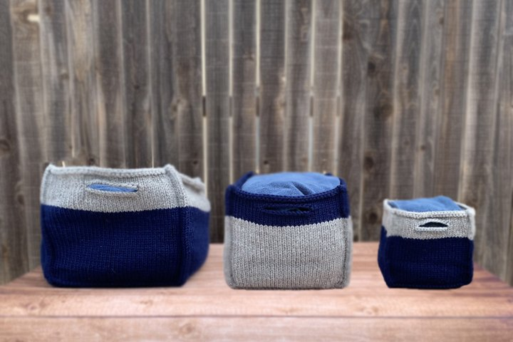 Boxy Baskets Knit Pattern
