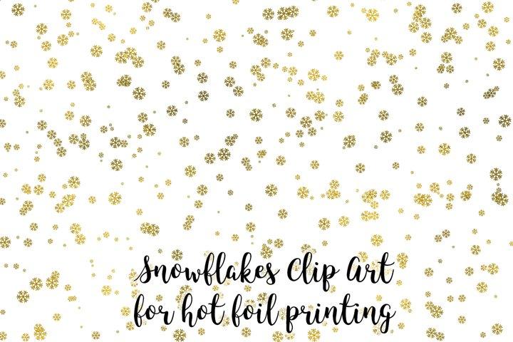 Snow Clip Art, Snowflakes Clip Art for hot foil printing